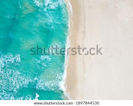 Drone photo Playa Ballenas, Cancun, Mexico Foto stock ©