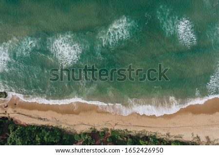 drone photography of clean and neat beach