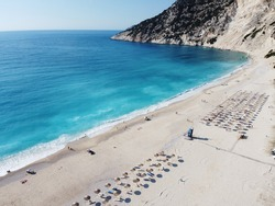 Drone photos of Myrtos Beach