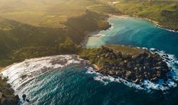 Drone Shot - Ghajn Tuffieha Bay in Malta