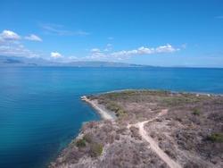 drone view in pamal de ocoa, republica dominicana