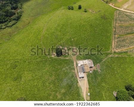 Drone View of Capela do Alto City in São Paulo - Brazil Foto stock ©