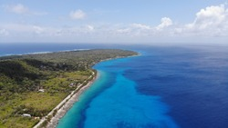 Drone view of San Andres, Colombia