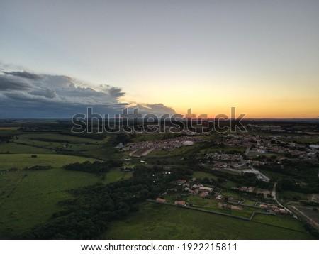 Drone View of Sorocaba City in Salto de Pirapora Foto stock ©