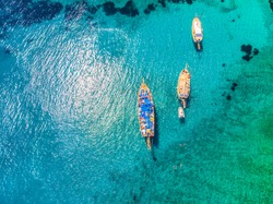 Drone view to the Aegean sea