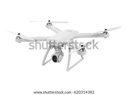 Drone with Camera Isolated. 3D rendering