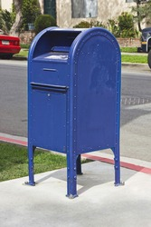 Drop box for mail in a residential neighborhood.