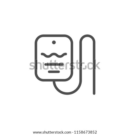 Drop counter line icon isolated on white