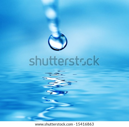 Drop falling in water