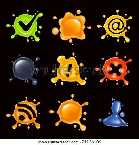 Drop icon set, Bitmap copy