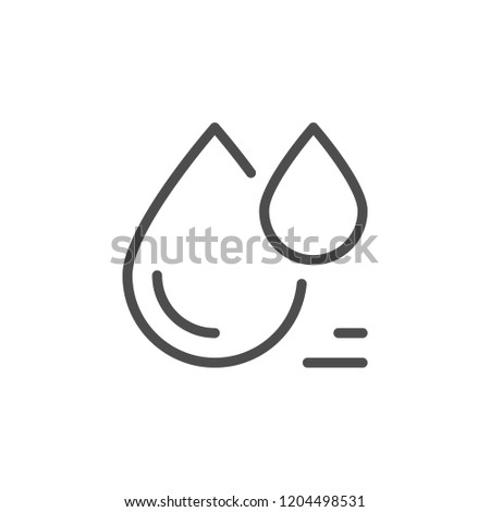 Drop line icon isolated on white