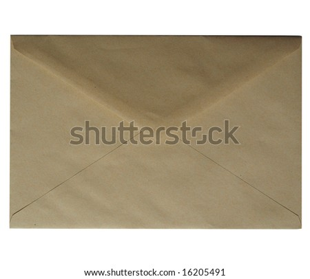 drop me a line - letter or small packet envelope - stock photo