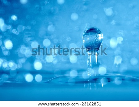 Drop of a rain close up... - stock photo