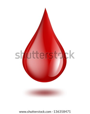 drop of blood. raster version