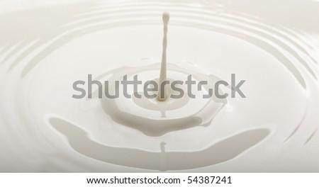 drop of milk falling into a bowl
