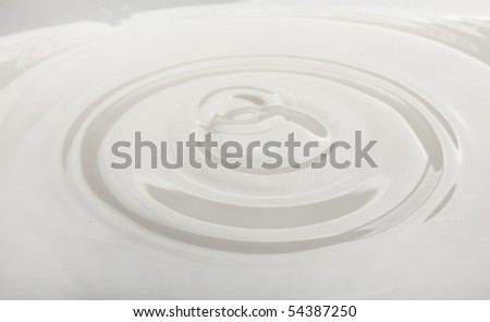 drop of milk falling into a bowl
