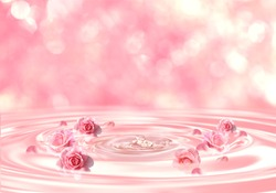 drop of serum, essential perfume, background of beauty product