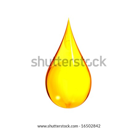 Drop of yellow liquid