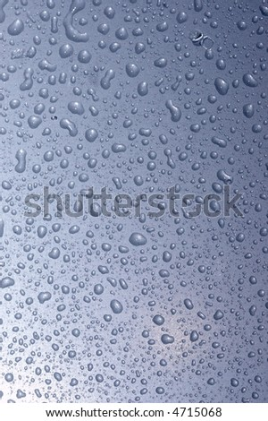 droplets on colored metall surface