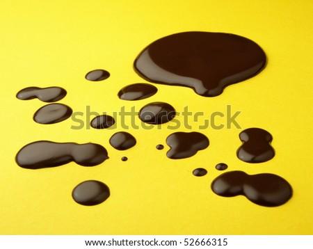Drops of liquid chocolate