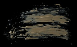 drops of mud sprayed isolated on black background, with clipping path