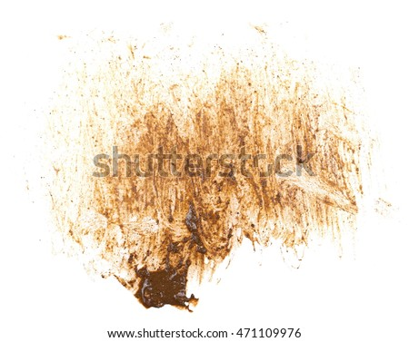 drops of mud sprayed isolated on white background, with clipping path #471109976
