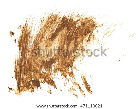 drops of mud sprayed isolated on white background, with clipping path #471110021