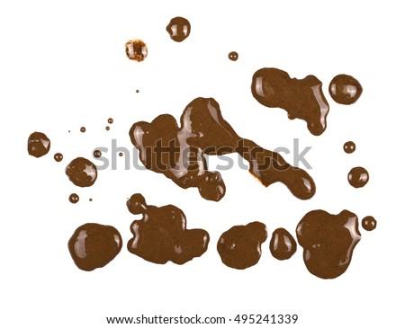 drops of mud sprayed isolated on white background, with clipping path #495241339