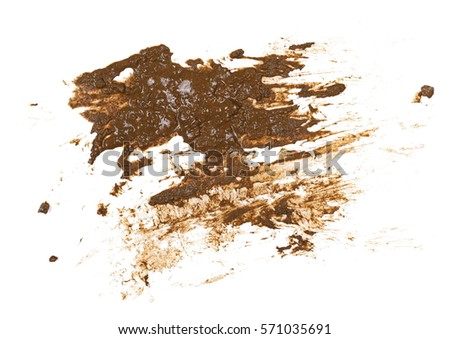 drops of mud sprayed isolated on white background, with clipping path #571035691