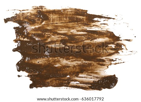 drops of mud sprayed isolated on white background, with clipping path #636017792