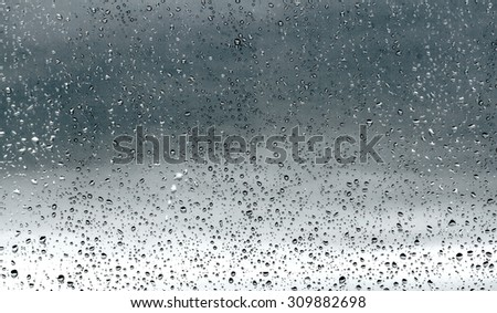 Drops of rain on glass #309882698