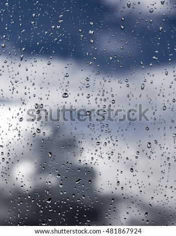 Drops of rain on the window #481867924