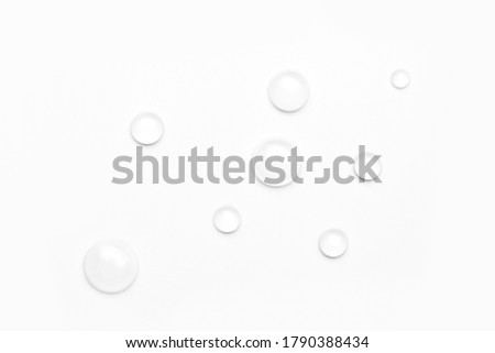 drops of water on a white background, top view. minimalism. purity