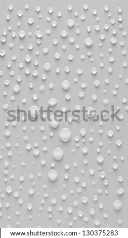 Drops of water on a white textured background.
