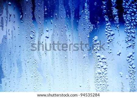 drops of water on a window glass