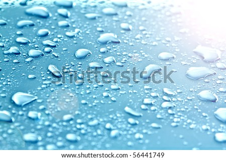 drops of water on floor