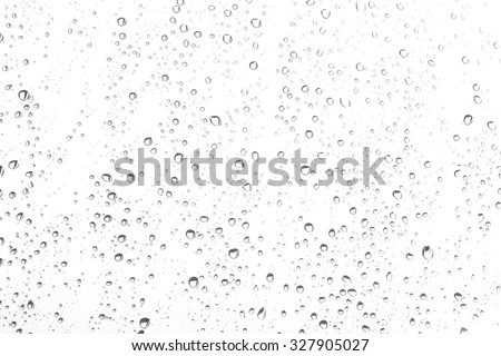 drops of water on glass