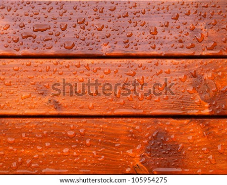 drops of water on the boards