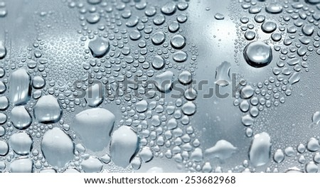 Drops of water. Shallow DOF.
