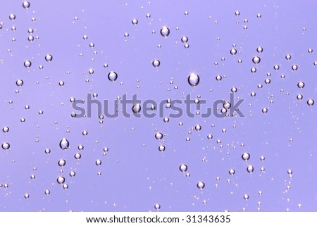 drops on glass,