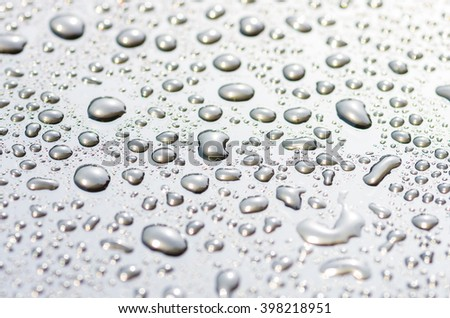drops on the glass surface of the matrix TFT monitor closely, background #398218951
