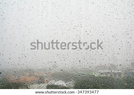 Drops on window #347393477