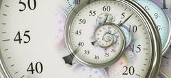 Droste effect background. Abstract design for concepts related to time, deadline and business.