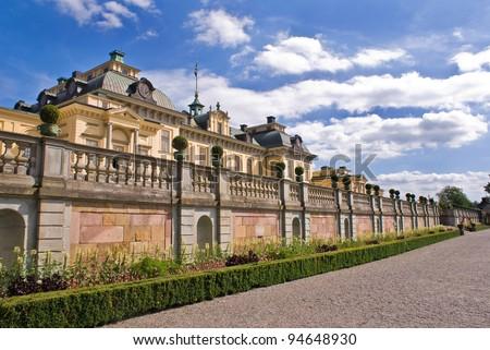 Drottningholm Palace Gardens at Stockholm, Sweden - stock photo