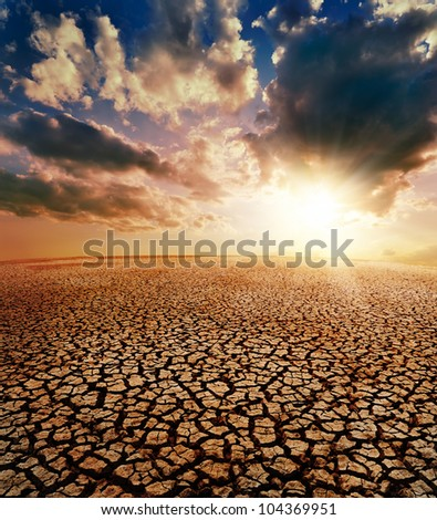 drought earth and dramatic sky