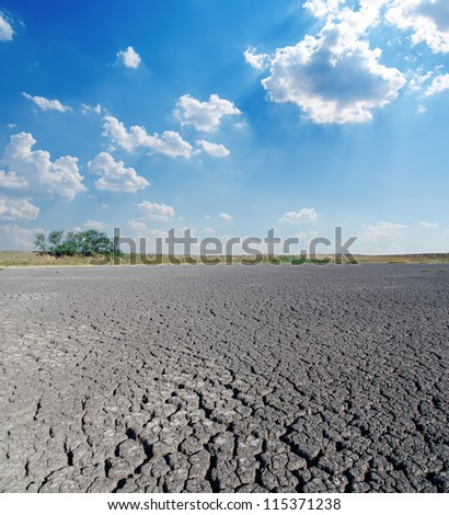 drought land under cloudy sky