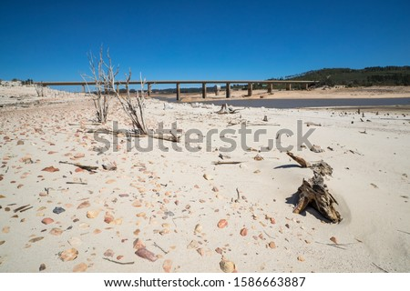 Drought Stricken Landscape In Area Of Western Cape In South Africa