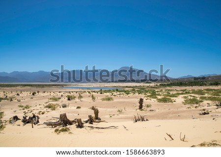 Drought Stricken Landscape In Theewaterskloof Dam Area Of Western Cape In South Africa
