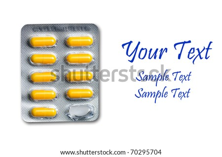 drug capsules in bubble pack