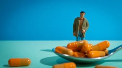 Drug dependence of a young man